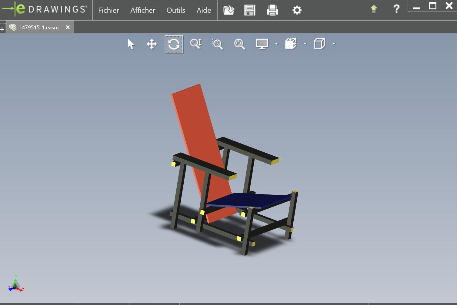 chaise rietveld